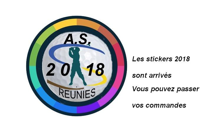 Les stickers 2018 sont arrivés
